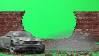 Green Screen FX, Sports Car Crashes Through Wall
