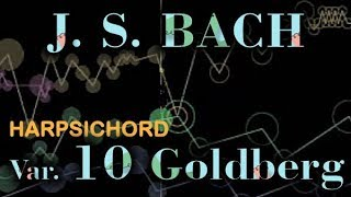 Johann Sebastian BACH: Goldberg Var. No. 10, BWV 988 [Harpsichord sound]