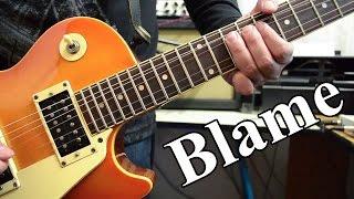 Calvin Harris - Blame ft. John Newman | electric guitar cover (instrumental & backing track)