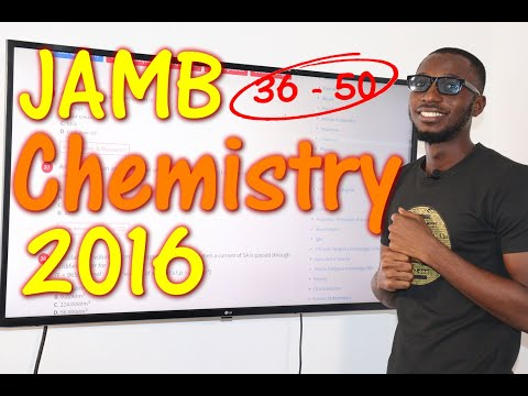 JAMB CBT Chemistry 2016 Past Questions 36 - 50