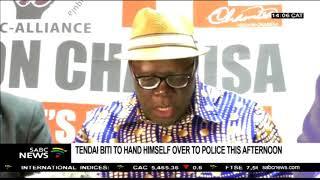 Tendai Biti to hand himself over to police
