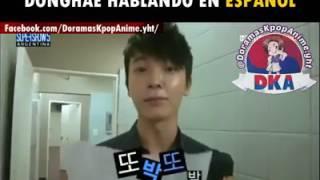 Donghae hablando español