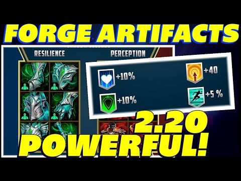NEW ARTIFACTS REVEALED FORGE ARTIFACTS RAID SHADOW LEGENDS 2.20 UPDATE