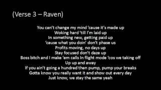 Raven Felix - Bet They Know Now ft. Wiz Khalifa - Lyrics