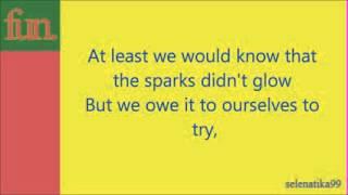 Fun    Light a Roman Candle With Me   Lyrics Low )
