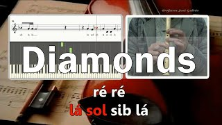 Diamonds in the sky Rihanna Karaoke para flauta Educação Musical José Galvão