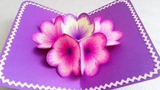 DIY 3D flower POP UP card width=