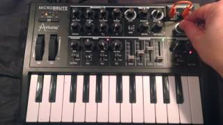 "MicroBrute bass patch ""I feel love"" (Donna Summer)"