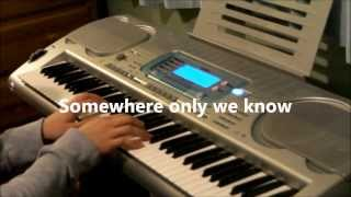 Lily Allen - Somewhere Only We Know (John Lewis Christmas Advert 2013) Piano Instrumental Lyrics