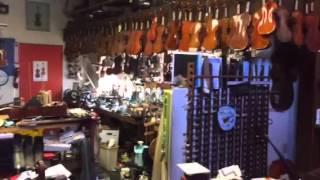 Picking my cello at Cremona Violin Shop!