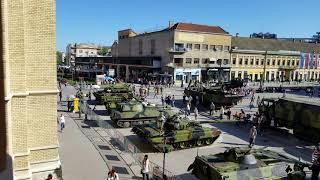 Serb Military Vehicles on Display in Novi Sad