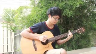 รู้ยัง - ต้น ธนษิต [Fingerstyle Guitar Cover] | Kawin