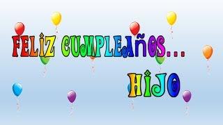 Tarjeta virtual animada de Feliz cumpleaños hijo
