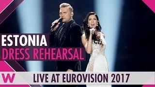 "Estonia: Koit Toome and Laura ""Verona"" semi-final 2 dress rehearsal @ Eurovision 2017"