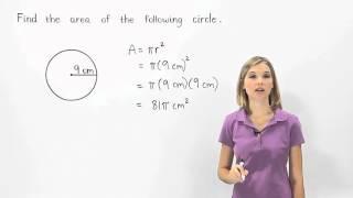 Area of a Circle | MathHelp.com