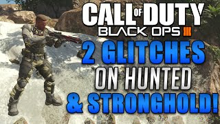 Black Ops 3 Glitches & Tricks - 2 Glitch Spots on Hunted & Stronghold! (BO3 Multiplayer Glitches)