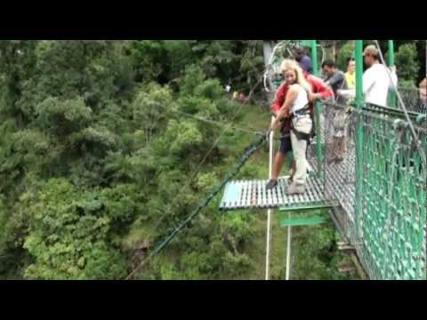 Highest Canyon Swing on Bhote Kosi river (HD)