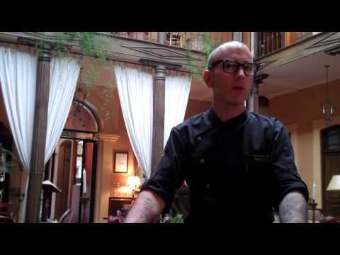Chef Clayton Carnes at Mansion Alcazar