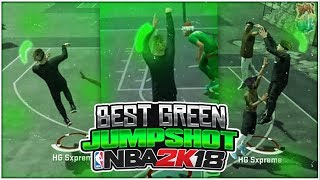 BEST JUMPSHOT ON NBA2K18! AUTOMATIC GREENS & MOST CONSISTENT!