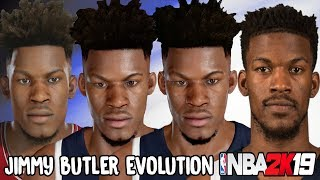 Jimmy Butler Ratings and Face Evolution (NBA 2K12 - NBA 2K19)