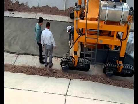 Geometri Makina Kayar Kalıplı Beton Finişeri