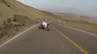 Longboarder Flies Down Winding Road