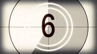 Old Fashioned Film Countdown Timer   Free Stock Video Footage   Download at Videvo net