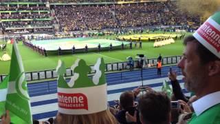 DFB Pokal Finale 2015 Dortmund Amazing smoke candle