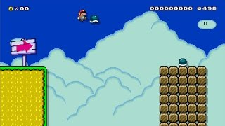 Mario Maker – Random Japanese level involving shell jump
