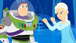 Elsa vs Buzz Lightyear