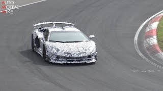 2020 LAMBORGHINI AVENTADOR SV JOTA SPIED TESTING AT THE NÜRBURGRING