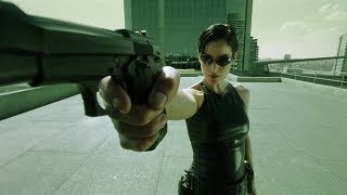 Trinity, help! (bullet time)   The Matrix