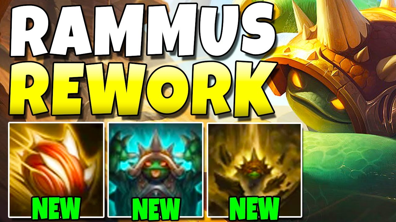 Redmercy - RAMMUS REWORK!!! NEW ULTIMATE + JUMPING COMBO! - League of Legends