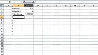 Excel Lab 10 - Statistics and Cumulative Percentage width=