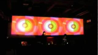 """Live video performance """"Mix box"""" by an angelico on the LPM X at Loft club, Minsk"""