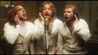 Bee Gees - Stayin' Alive parody. Sound recording in studio