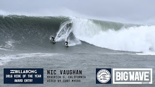 Nic Vaughan at Maverick's 1  - 2016 Billabong Ride of the Year Entry - WSL Big Wave Awards