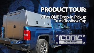 X-Pro ONE Drop-In Aluminum Commercial Truck Cap/Pack