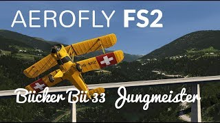 Aerofly FS 2: First Look - Taking the Bücker Bü 33 Jungmeister for a ride in 4K