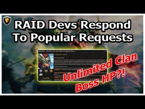RAID Shadow Legends | Devs Respond To Popular Requests! | Unlimited Boss HP?!