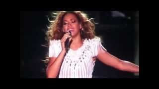 Beyoncé gets emotional during Flaws and all. Mrs. Carter World Tour - Antwerp, Belgium - 15/05/2013