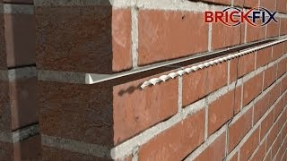 Crack Stitching. Repairing Cracked Walls Using BrickFix Helical Bar and Grout.