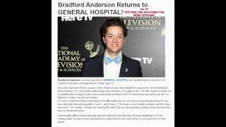 GH INTERVIEW SPINELLI's BACK 9-2-16 Bradford Anderson General Hospital Promo Preview 8-24-16 8-25-16