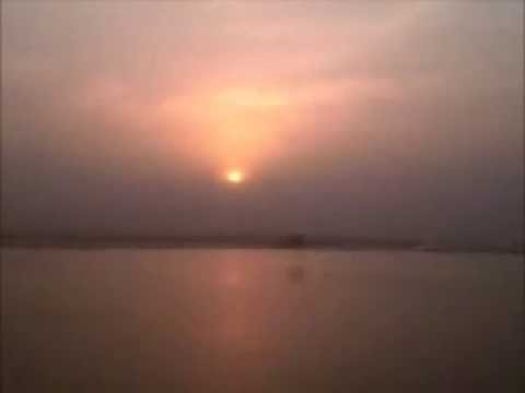Sunset in the Padma river