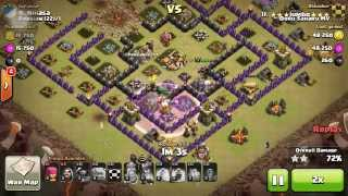GoWiPe by Jumbo | 3 star TH9 war attack strategy on Clash of Clans