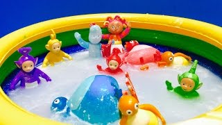 IN THE NIGHT GARDEN, Teletubbies and Twirlywoos Toys Bath!