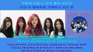 GFRIEND 여자친구 Time for the moon night 밤 instrumental official + lyrics