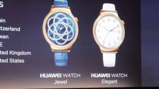 "Huawei's ""Lady"" Smartwatches, ""Jewel"" and ""Elegant,"" At CES 2016"