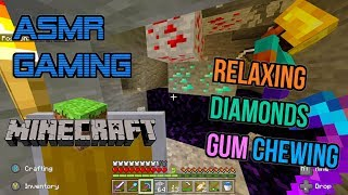 ASMR Gaming 💎 Minecraft Relaxing Diamonds Mining Gum Chewing 🎮🎧Controller Sounds😴💤