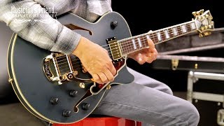 D'Angelico Deluxe SS Bob Weir Signature Signed Semi-Hollow Guitar, Ebony